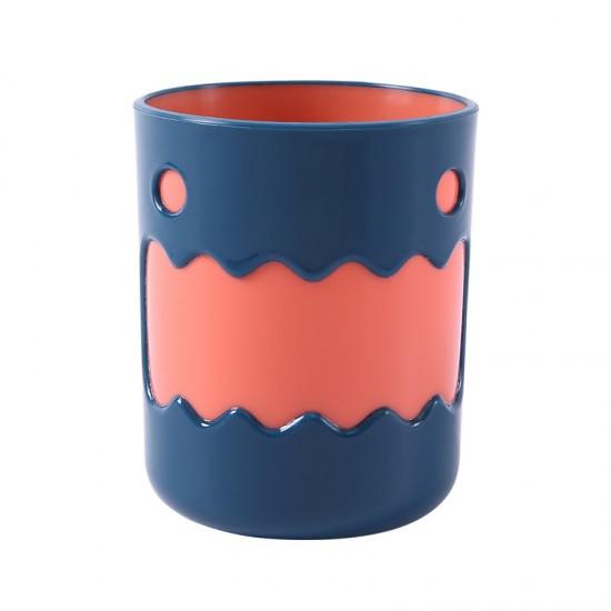 小怪獸雙色水杯 浴室必備可愛漱口杯 創意造型雙色水杯 牙刷杯