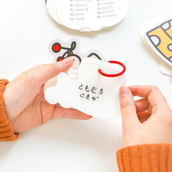 可愛造型單字卡 創意隨身單字本 學生必備單字本 記事本 筆記本